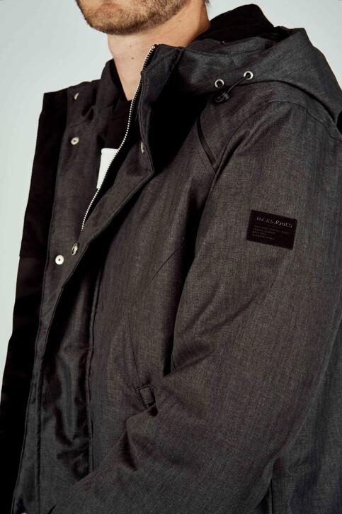 CORE BY JACK & JONES Vestes longues noir 12157684_BLACK MELANGE img4