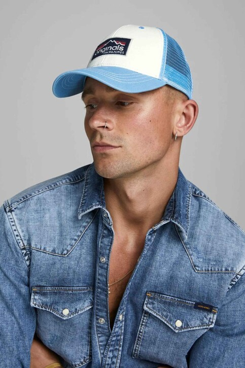 ACCESSORIES BY JACK & JONES Casquettes bleu 12158660_FORGET ME NOT img1