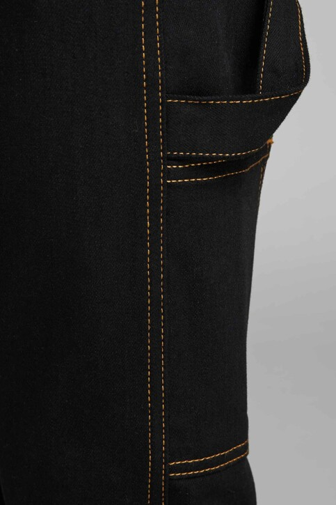 JACK & JONES JEANS INTELLIGENCE Jeans tapered 12159046_BLACK DENIM img4