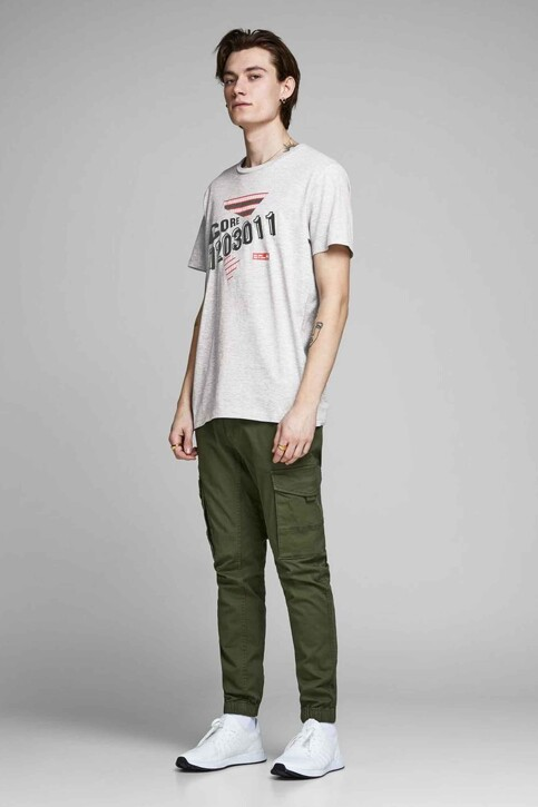 CORE BY JACK & JONES T-shirts (manches courtes) gris 12161626_LIGHT GREY MEL img2