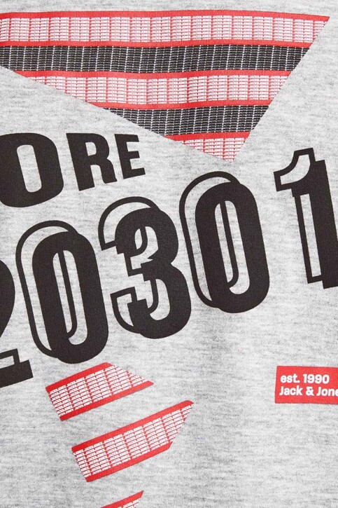 CORE BY JACK & JONES T-shirts (manches courtes) gris 12161626_LIGHT GREY MEL img4