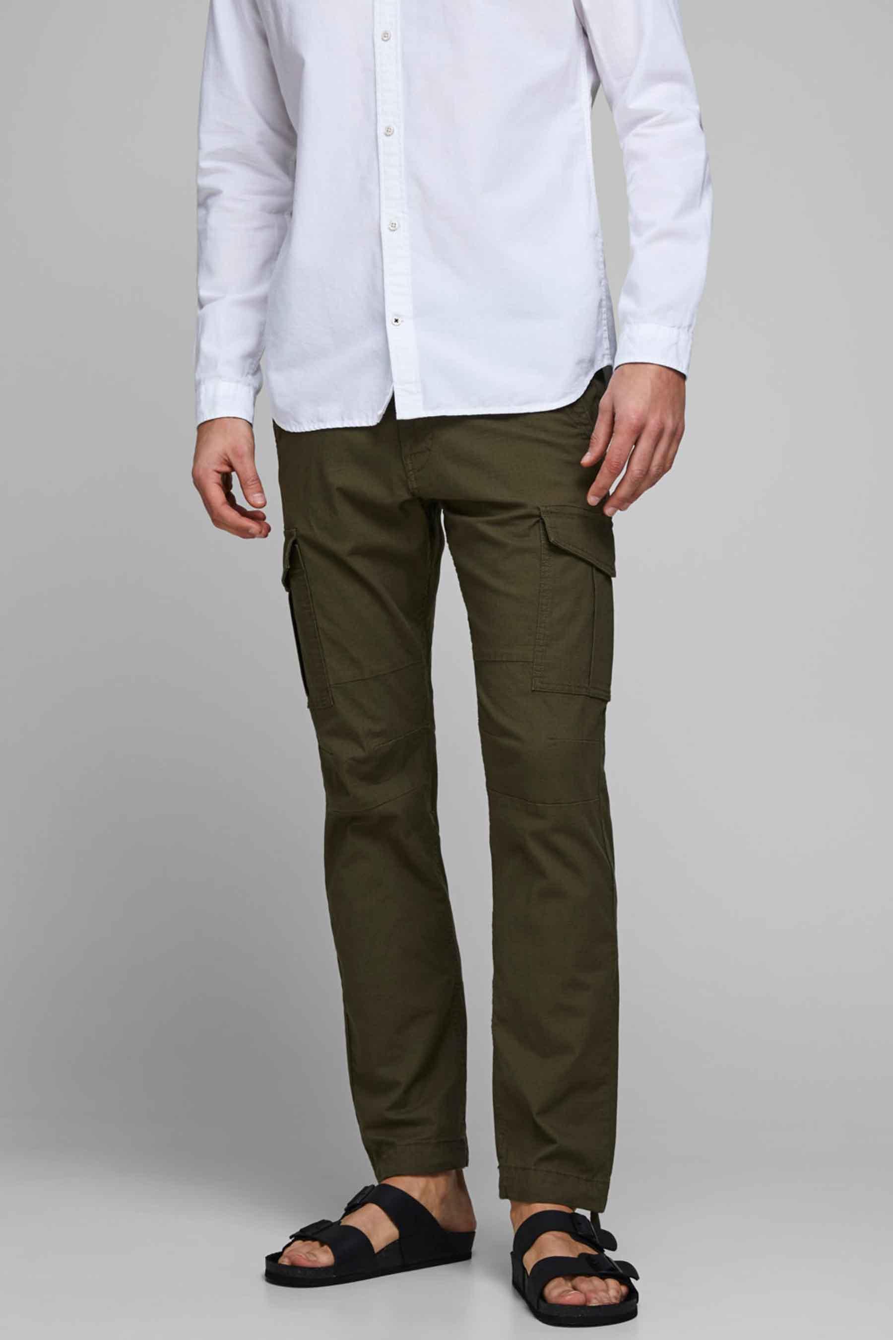 Jack & Jones Jeans Intelligence Broek, Olive, Heren, Maat: 38x32