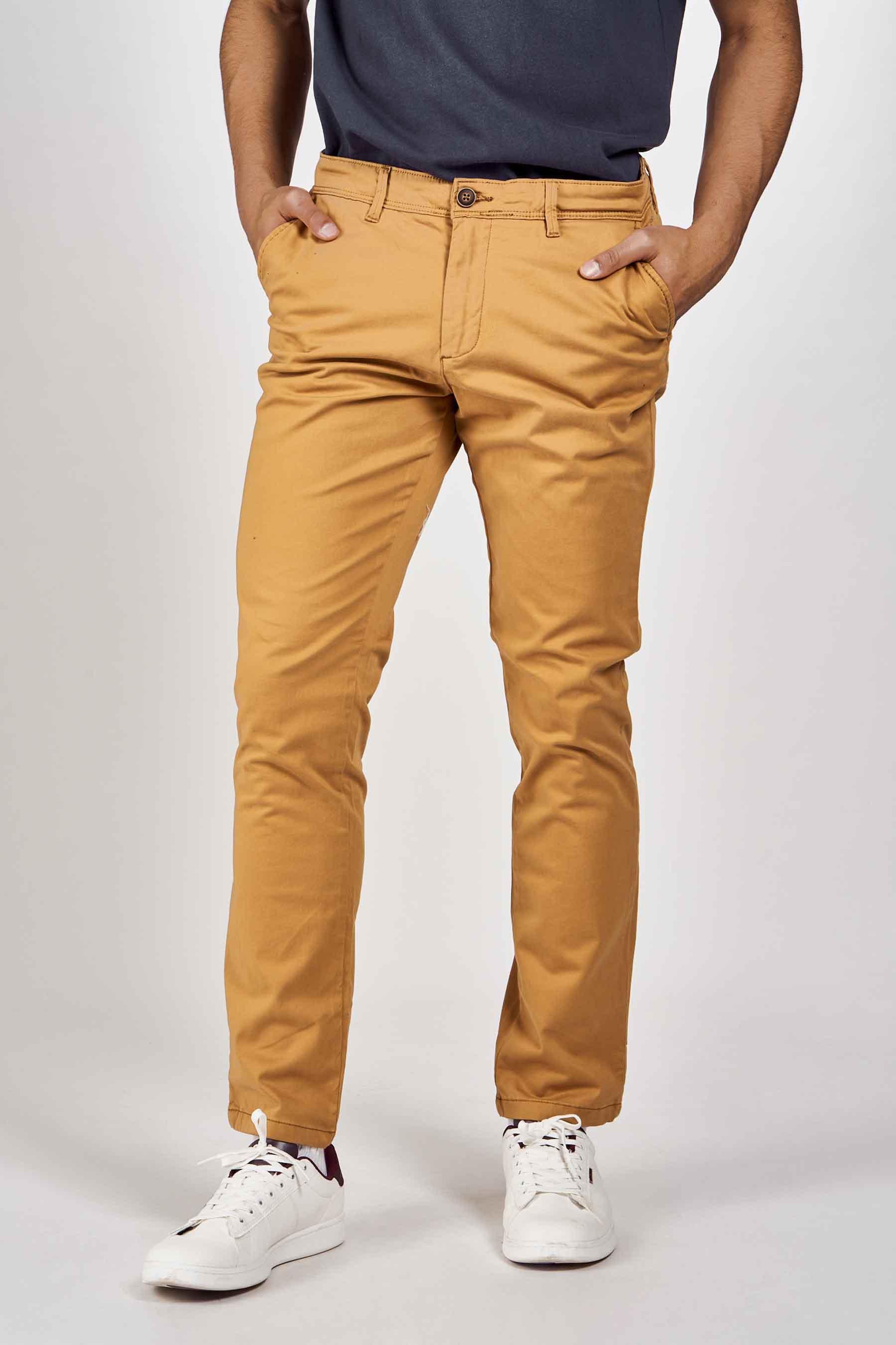 Jack & Jones Jeans Intelligence Chino, Bruin, Heren, Maat: 27x32