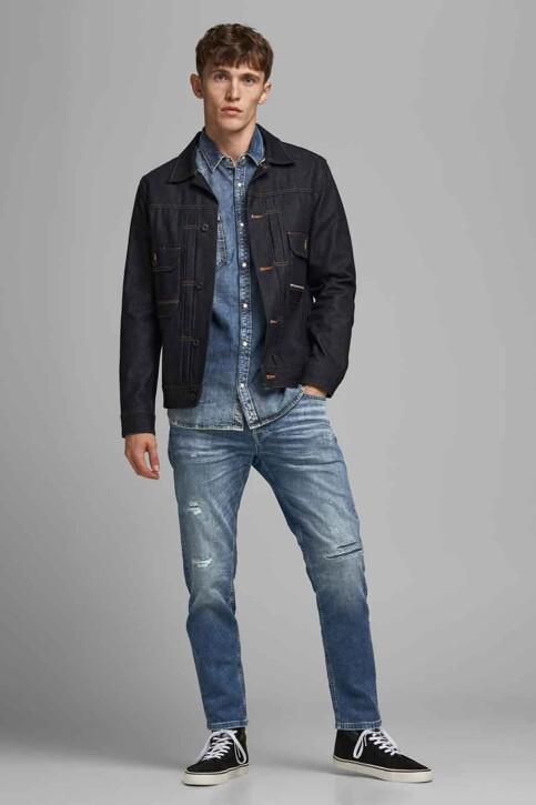 JACK & JONES JEANS INTELLIGENCE Jeans tapered denim 12177435_JOS 986 MED BLU img2