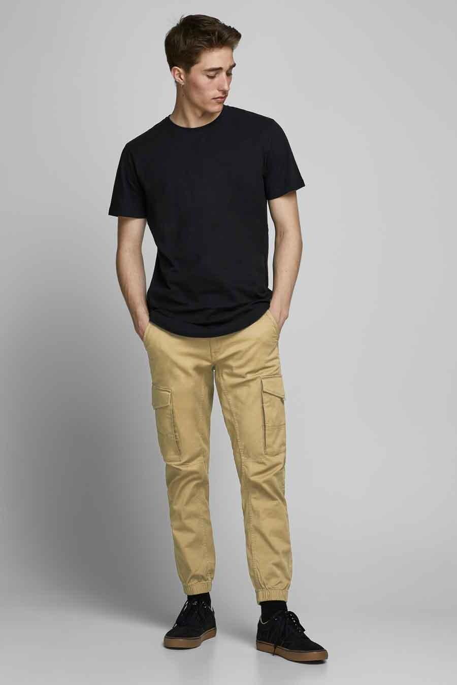 Jack & Jones Jeans Intelligence Chino, Beige, Heren, Maat: 36x34