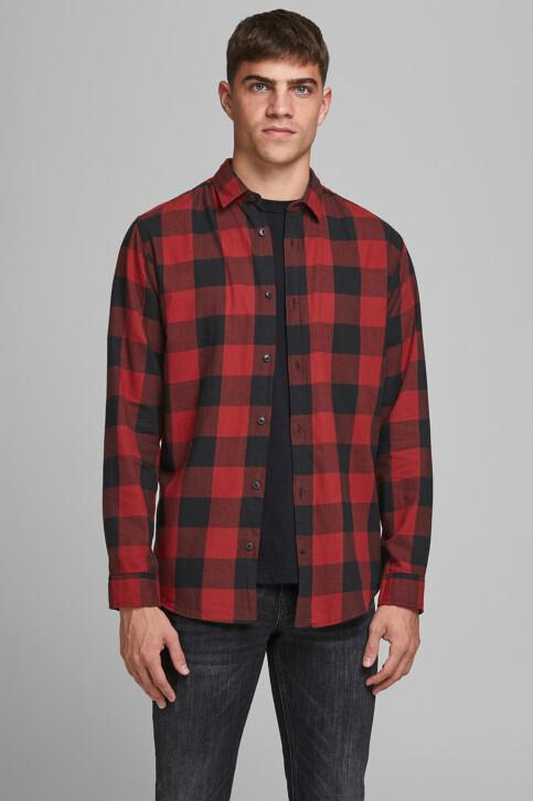CORE BY JACK & JONES Hemden (lange mouwen) rood 12181602_BRICK RED SLIM img1