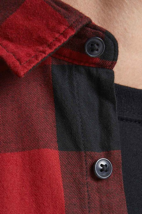 CORE BY JACK & JONES Hemden (lange mouwen) rood 12181602_BRICK RED SLIM img3