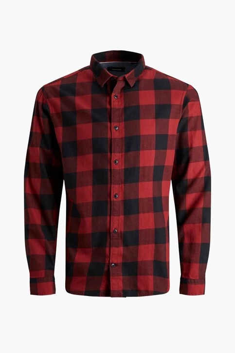 CORE BY JACK & JONES Hemden (lange mouwen) rood 12181602_BRICK RED SLIM img7