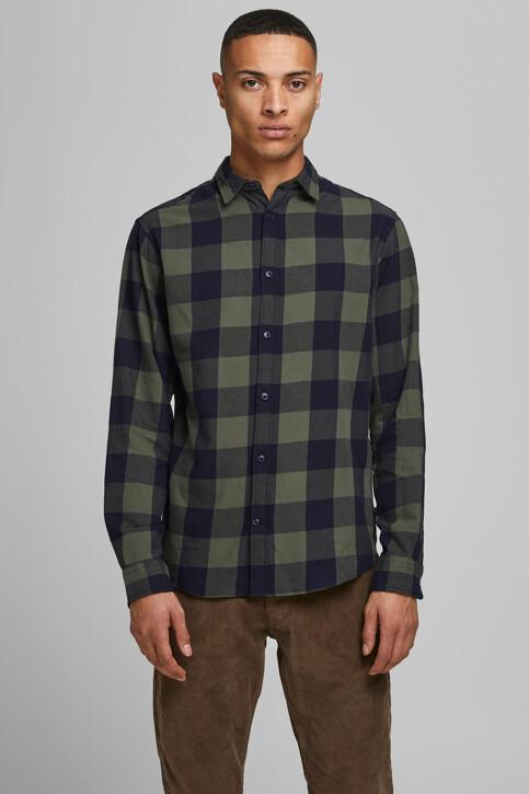 CORE BY JACK & JONES Hemden (lange mouwen) groen 12181602_DUSTY OLIVE SLI img1