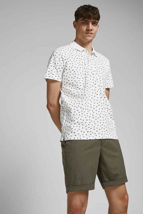 PREMIUM BLUE by JACK & JONES Polo's wit 12182881_WHITE REG FIT img1
