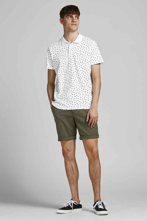 PREMIUM BLUE by JACK & JONES Polo's wit 12182881_WHITE REG FIT img2