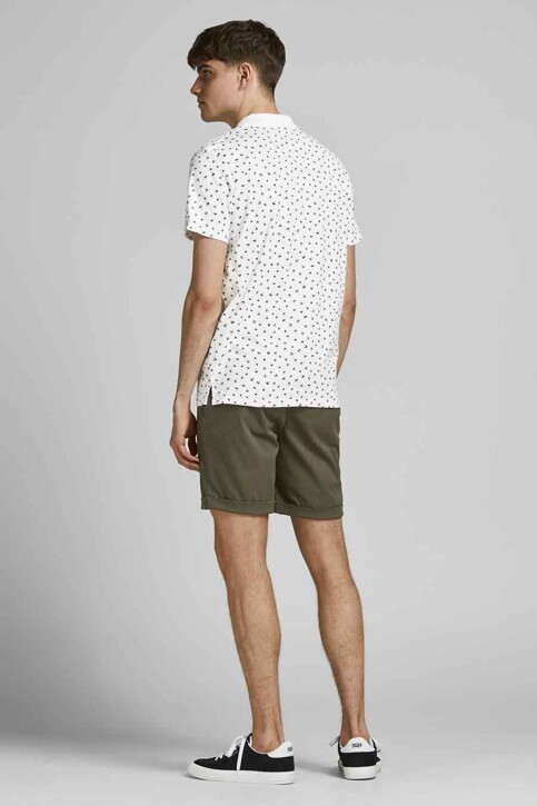 PREMIUM BLUE by JACK & JONES Polo's wit 12182881_WHITE REG FIT img3