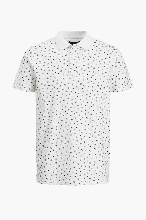 PREMIUM BLUE by JACK & JONES Polo's wit 12182881_WHITE REG FIT img5