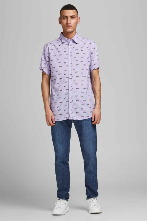 ORIGINALS BY JACK & JONES Hemden (korte mouwen) blauw 12183573_LAVENDER COMFOR img1