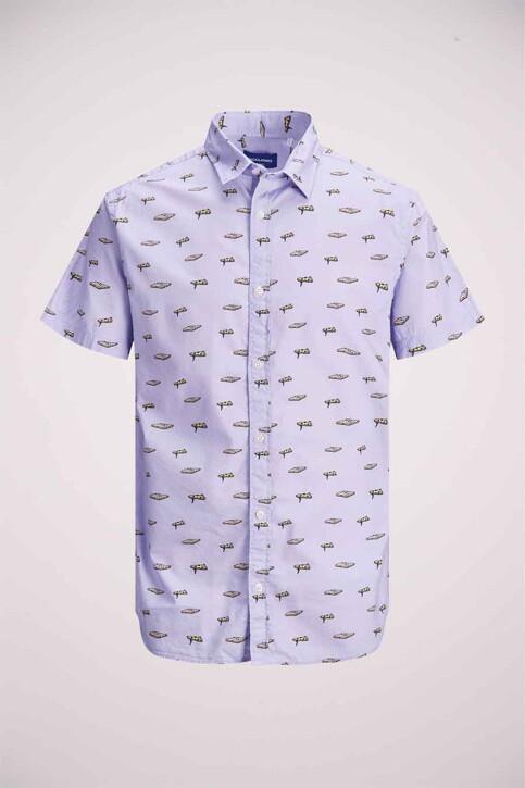 ORIGINALS BY JACK & JONES Hemden (korte mouwen) blauw 12183573_LAVENDER COMFOR img7