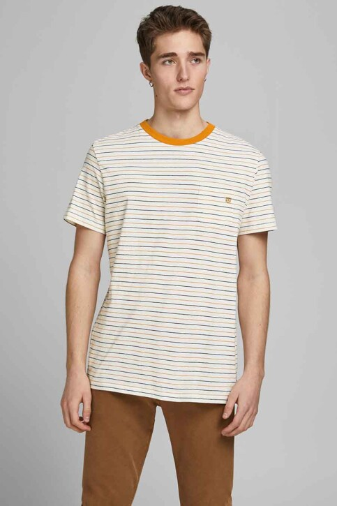 PREMIUM BLUE by JACK & JONES T-shirts (korte mouwen) wit 12183643_WHISPER WHITE R img1