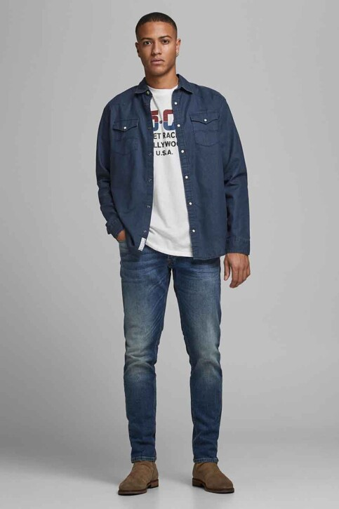 PREMIUM BLUE by JACK & JONES T-shirts (korte mouwen) wit 12183774_CLOUD DANCER RE img6