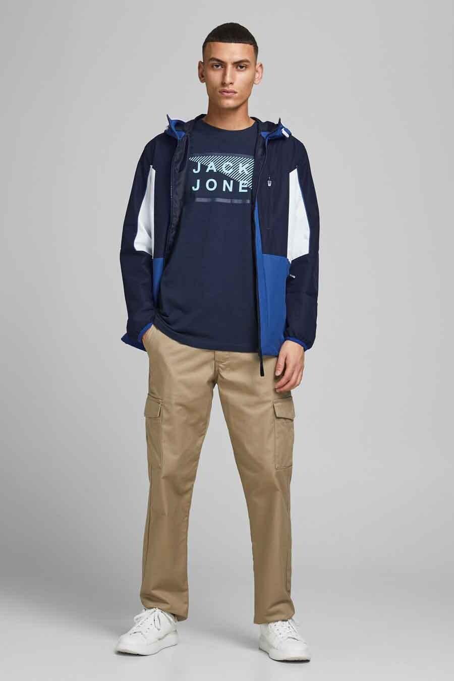 Core By Jack & Jones Jas kort, Blauw, Heren, Maat: L/M/S/XL