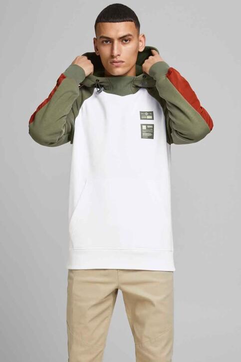 CORE BY JACK & JONES Sweaters met kap wit 12185023_WHITE img1