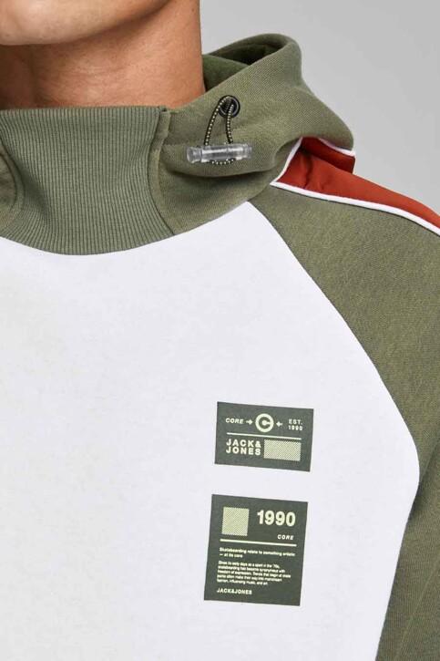 CORE BY JACK & JONES Sweaters met kap wit 12185023_WHITE img4