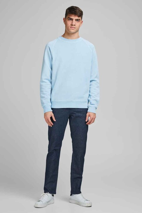 PREMIUM BLUE by JACK & JONES Sweats col O bleu 12185315_DREAM BLUE REG img1