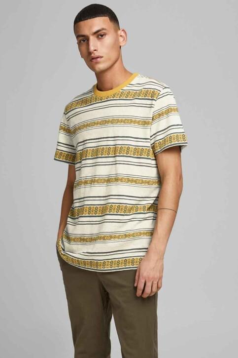 PREMIUM BLUE by JACK & JONES T-shirts (manches courtes) beige 12185416_ECRU REG FIT img1