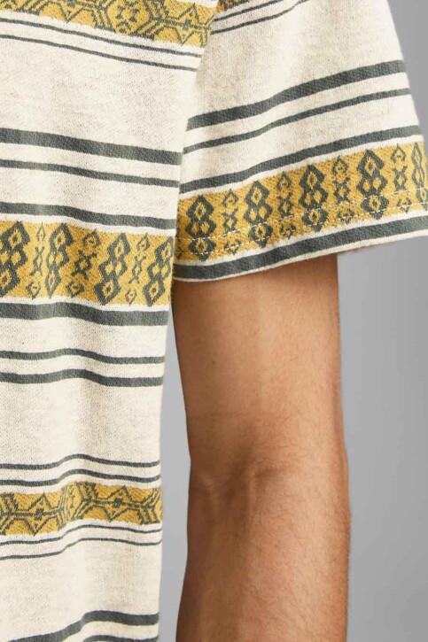 PREMIUM BLUE by JACK & JONES T-shirts (manches courtes) beige 12185416_ECRU REG FIT img3