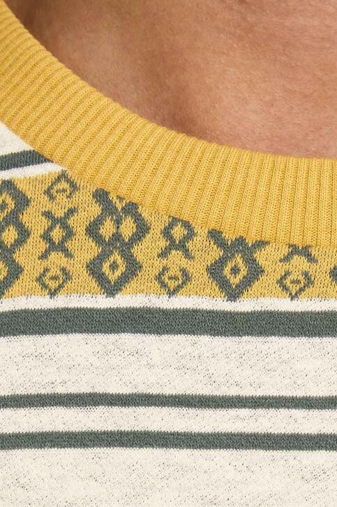 PREMIUM BLUE by JACK & JONES T-shirts (manches courtes) beige 12185416_ECRU REG FIT img4