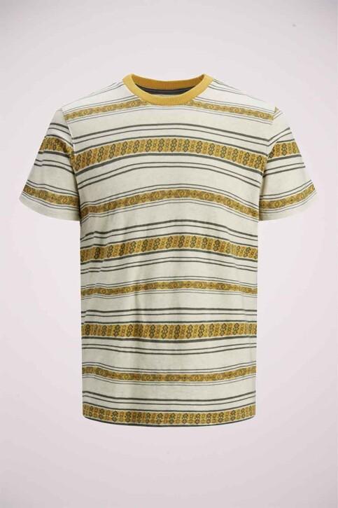 PREMIUM BLUE by JACK & JONES T-shirts (manches courtes) beige 12185416_ECRU REG FIT img7