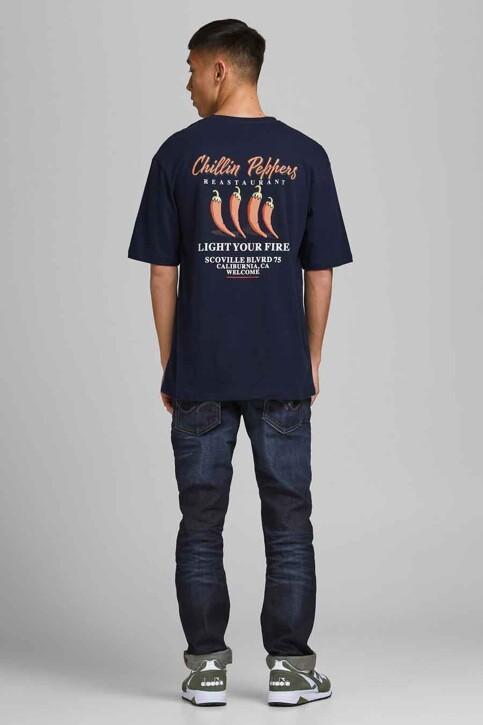 ORIGINALS BY JACK & JONES T-shirts (korte mouwen) blauw 12185717_NAVY BLAZER REL img1