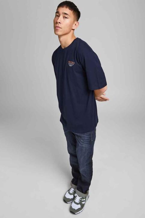 ORIGINALS BY JACK & JONES T-shirts (korte mouwen) blauw 12185717_NAVY BLAZER REL img2