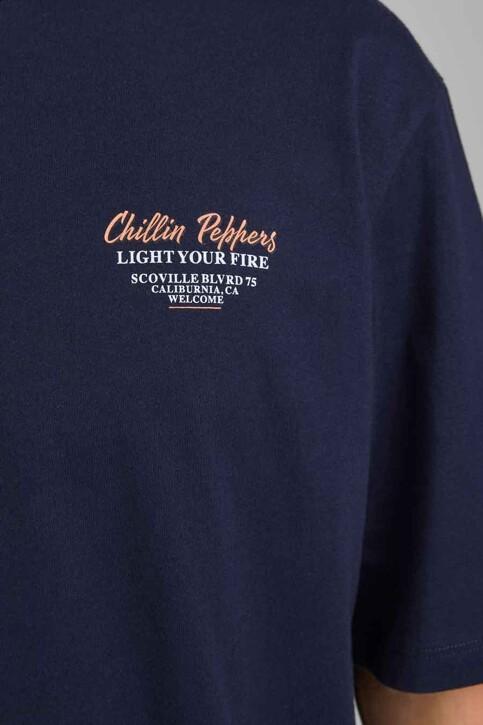 ORIGINALS BY JACK & JONES T-shirts (korte mouwen) blauw 12185717_NAVY BLAZER REL img3