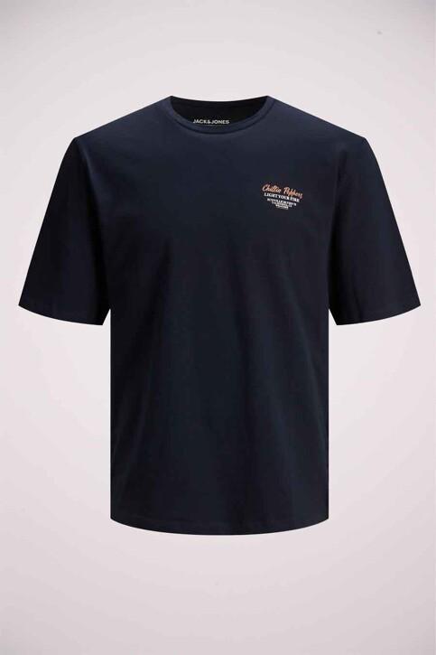 ORIGINALS BY JACK & JONES T-shirts (korte mouwen) blauw 12185717_NAVY BLAZER REL img5