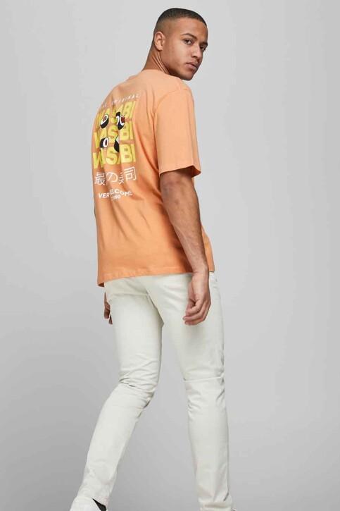 ORIGINALS BY JACK & JONES T-shirts (korte mouwen) oranje 12185717_SHELL CORAL REL img1