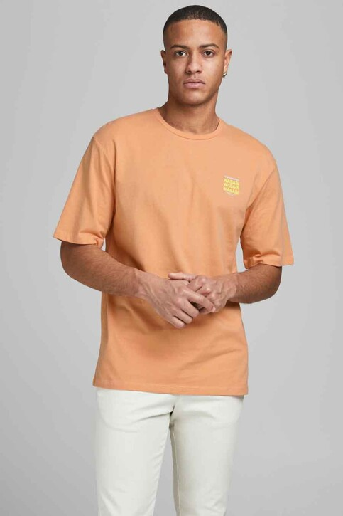 ORIGINALS BY JACK & JONES T-shirts (korte mouwen) oranje 12185717_SHELL CORAL REL img2