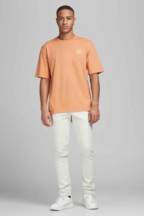ORIGINALS BY JACK & JONES T-shirts (korte mouwen) oranje 12185717_SHELL CORAL REL img4
