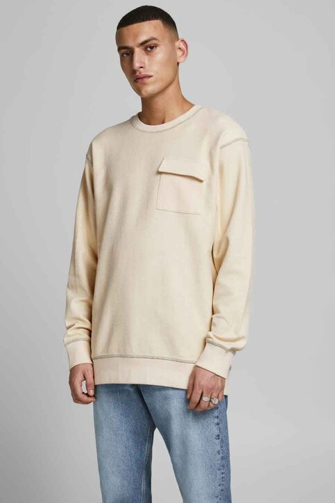 ORIGINALS BY JACK & JONES Sweaters met ronde hals grijs 12186381_SEEDPEARL AMERI img1
