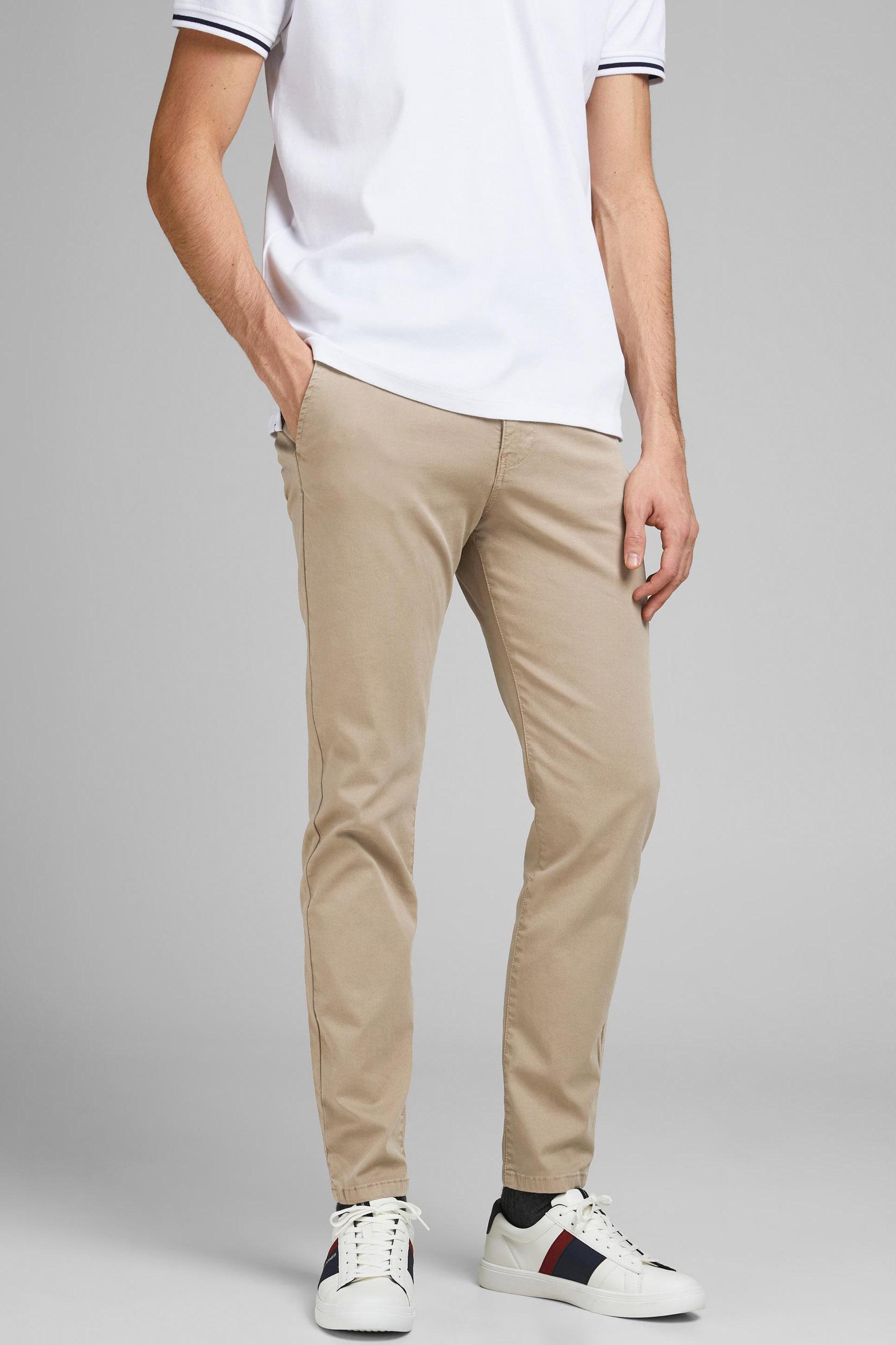 Jack & Jones Jeans Intelligence Chino, Wit, Heren, Maat: 27x32/29x32/31x32/32x32