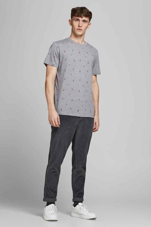 ORIGINALS BY JACK & JONES T-shirts (korte mouwen) grijs 12186780_LIGHT GREY MELA img1