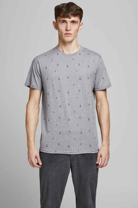 ORIGINALS BY JACK & JONES T-shirts (korte mouwen) grijs 12186780_LIGHT GREY MELA img2