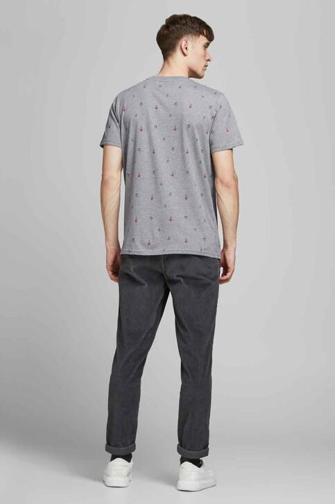 ORIGINALS BY JACK & JONES T-shirts (korte mouwen) grijs 12186780_LIGHT GREY MELA img3