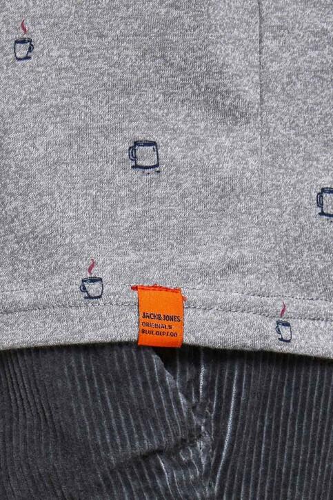 ORIGINALS BY JACK & JONES T-shirts (korte mouwen) grijs 12186780_LIGHT GREY MELA img4