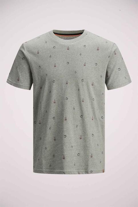 ORIGINALS BY JACK & JONES T-shirts (korte mouwen) grijs 12186780_LIGHT GREY MELA img6