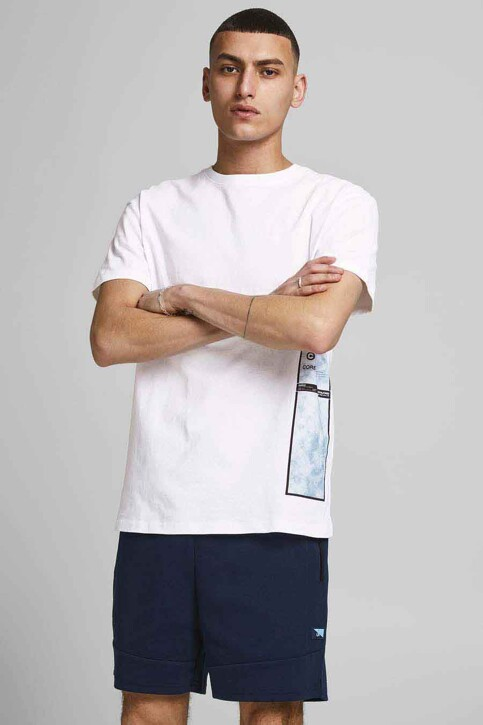 CORE BY JACK & JONES T-shirts (korte mouwen) wit 12188011_WHITE RELAXED img1