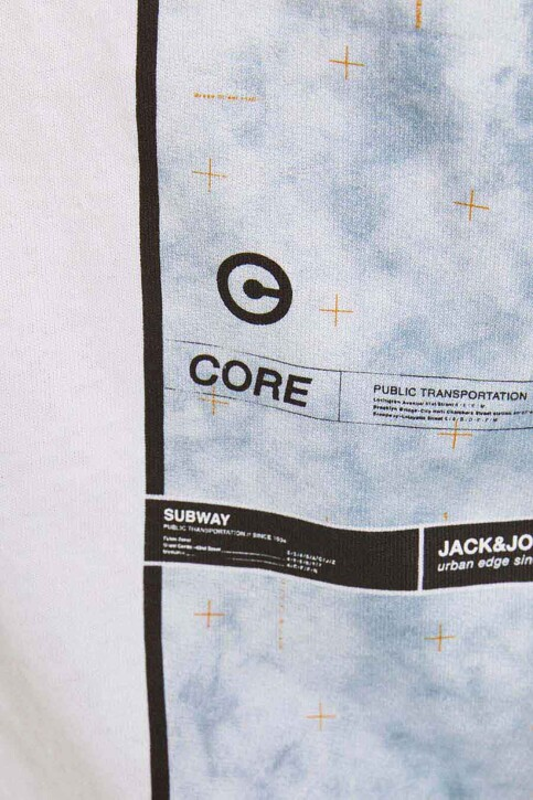 CORE BY JACK & JONES T-shirts (korte mouwen) wit 12188011_WHITE RELAXED img3