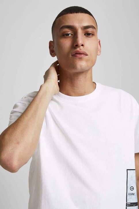 CORE BY JACK & JONES T-shirts (korte mouwen) wit 12188011_WHITE RELAXED img6