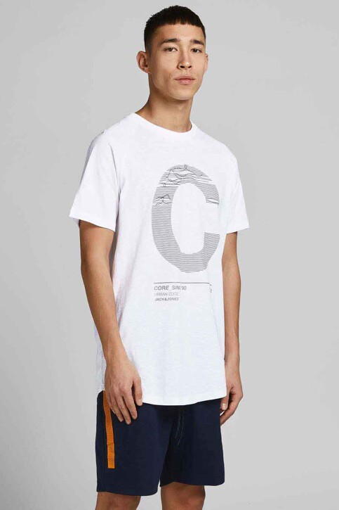 CORE BY JACK & JONES T-shirts (korte mouwen) wit 12188191_WHITE SLIM img1
