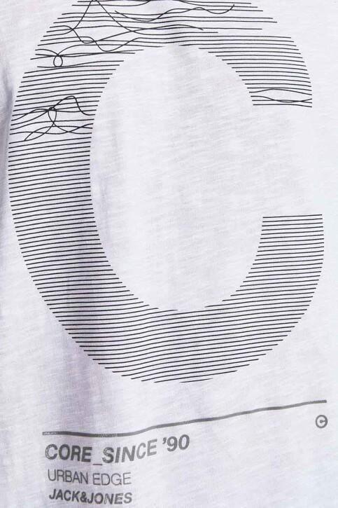CORE BY JACK & JONES T-shirts (korte mouwen) wit 12188191_WHITE SLIM img3