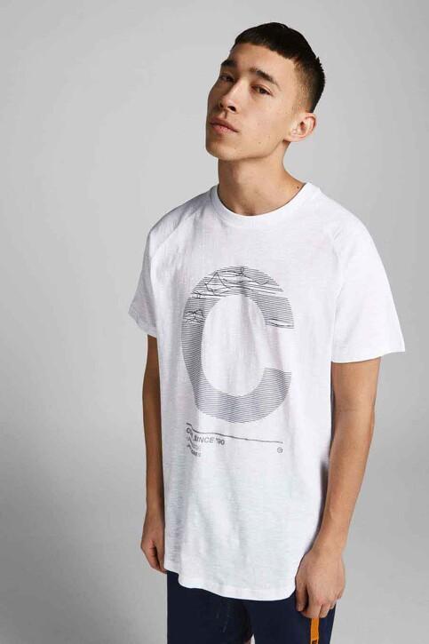 CORE BY JACK & JONES T-shirts (korte mouwen) wit 12188191_WHITE SLIM img5