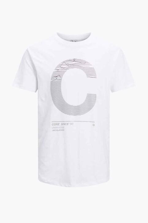 CORE BY JACK & JONES T-shirts (korte mouwen) wit 12188191_WHITE SLIM img7